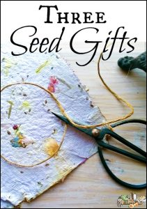 3 Seed Gifts for Spring Holidays l Earth Day Mothers Day Easter l Frugal DIY gifts for kids and adults l Homestead Lady.com
