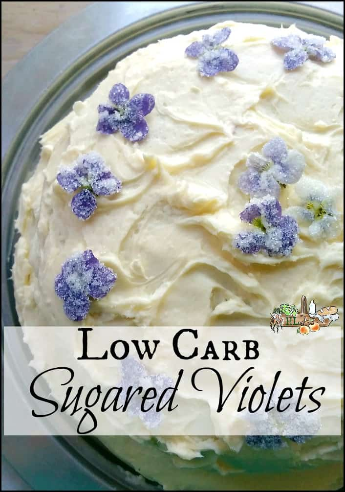 5-Step Low Carb Sugared Violets