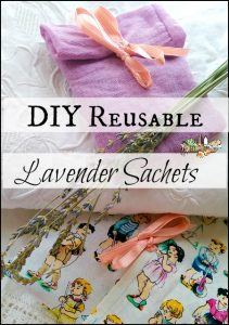 DIY Reusable Lavender Sachets for Linens l Make your own and stop buying single use sachets l Makes a great gift l Homestead Lady.com