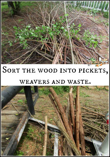 sort the wattle wood by use