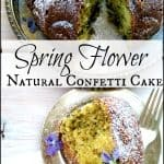 Spring Flower Natural Confetti Cake