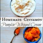 Homemade Cinnamon Pumpkin Whipped Cream