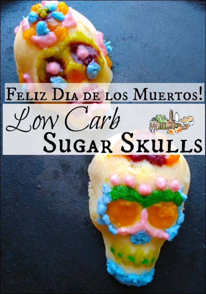 decorated Mexican sugar skulls
