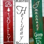 Rustic DIY Holiday Porch Signs