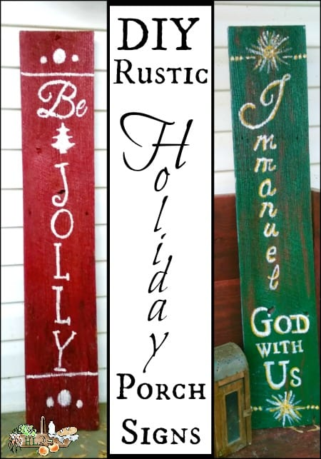 Christmas porch signs
