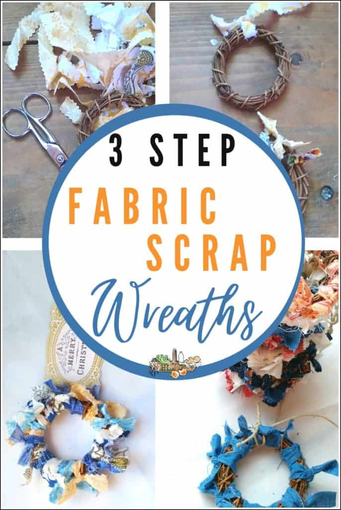 fabric scraps and wreaths