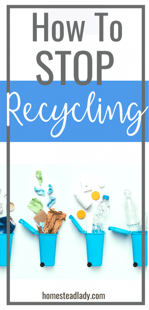 recycling containers spilling their contents